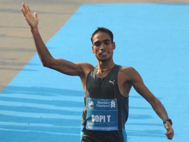 Gopi wins Asian Marathon Championship gold