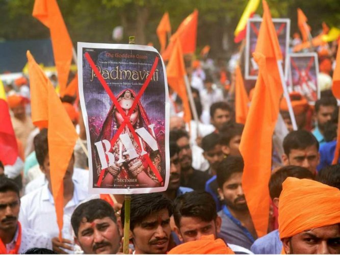 'Padmavati' row: Over 300 detained over protest in Chittorgarh