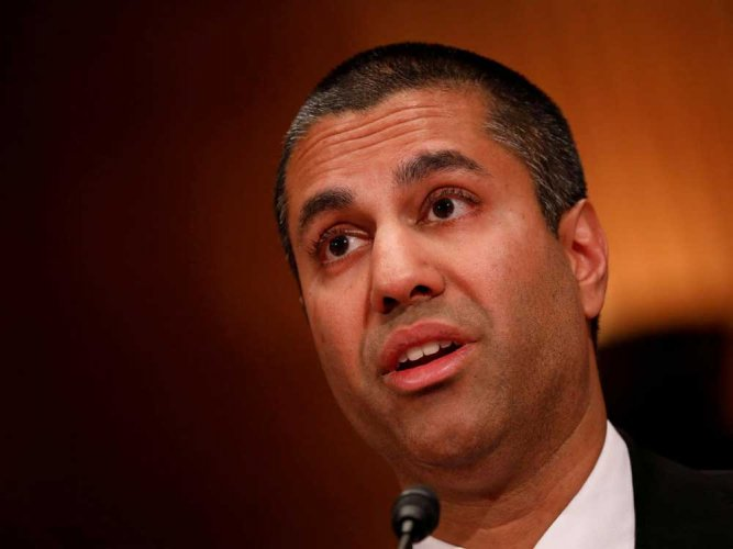 Protests outside Ajit Pai's home over net neutrality rules