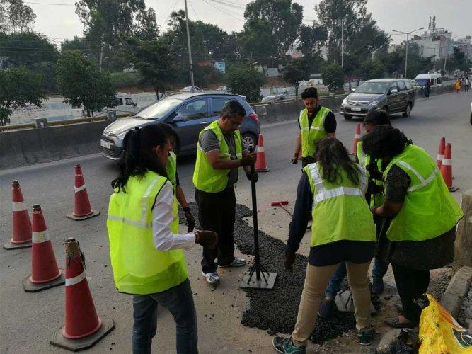 MNC's include pothole repair under CSR