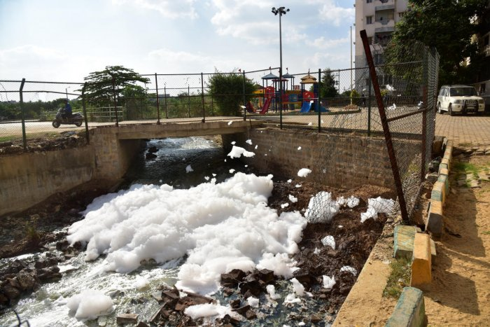 Kaggadasapura lake latest to spill toxic foam