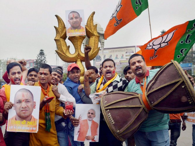 BJP set to sweep UP civic polls; Cong fares poorly in Amethi