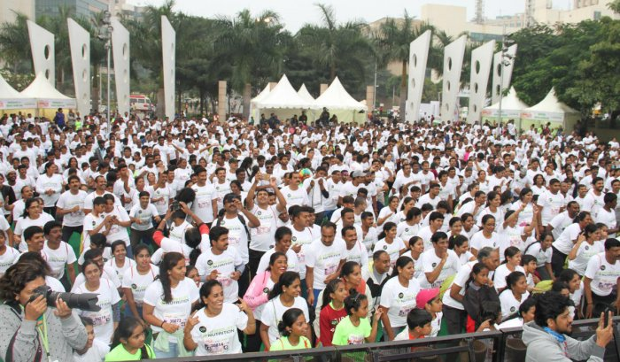 Families' day out at the Fitness fest
