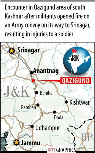 Two militants, soldier killed after ultras attack army convoy