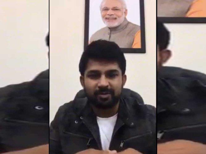 BJP MP Pratap Simha's video on 'violence' goes viral