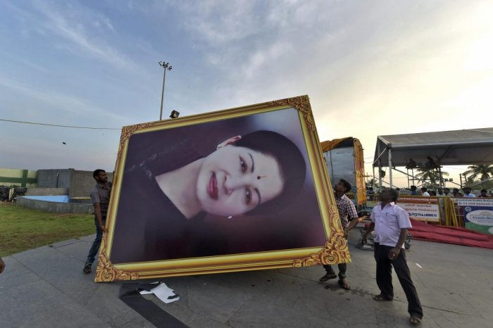 Jaya death anniversary: EPS, OPS lead silent march