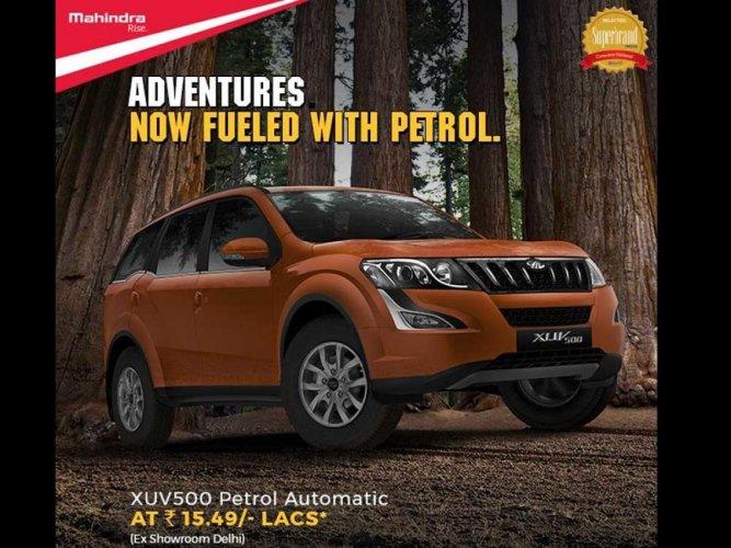 Mahindra rolls out petrol XUV500 at Rs 15.49 lakh