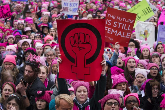 Outraged and inspired, women join political fray