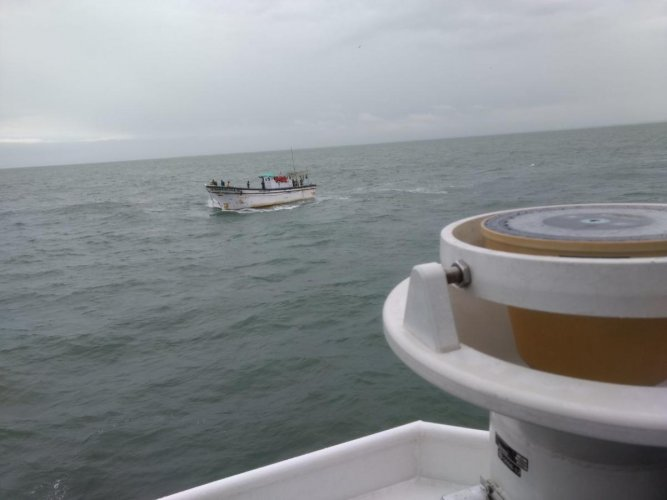 Coast Guard Ship rescues boat with 13 fishermen off Malpe