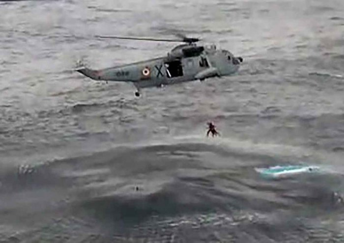 Navy helps Singapore vessel stranded at sea