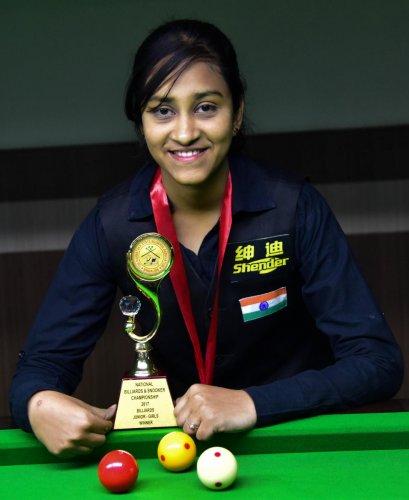 Keerthana wins third title