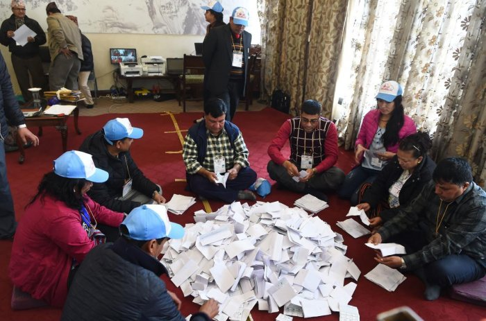 Left alliance heading for victory in Nepal