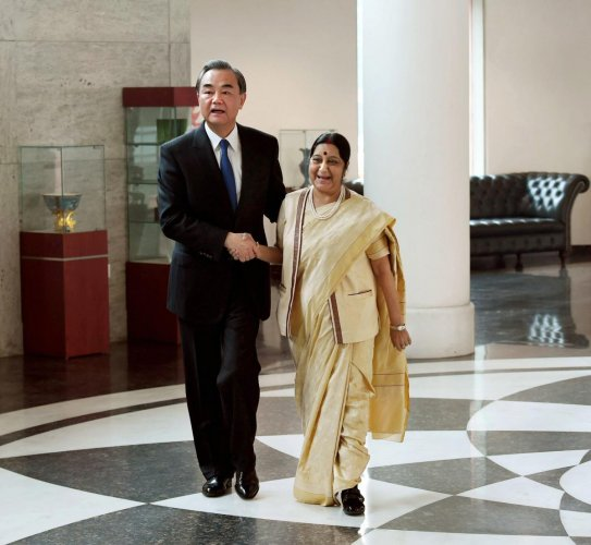 Sushma holds talks with Chinese counterpart