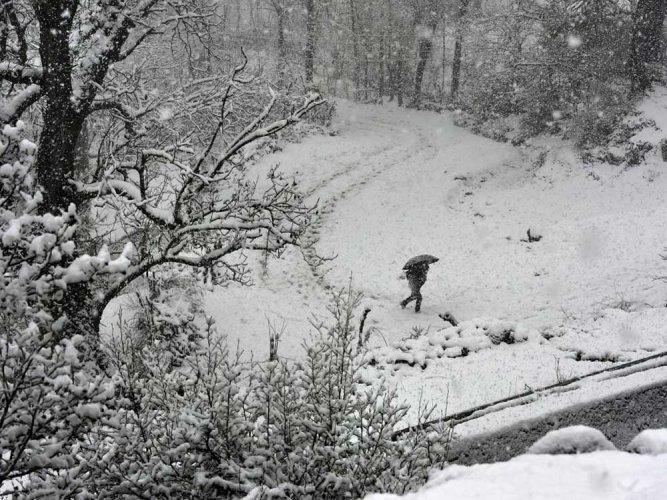 Season's first snowfall brings cheers in Kashmir