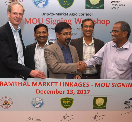 14 firms partner with govt for Drip-to-Market Agro Corridor