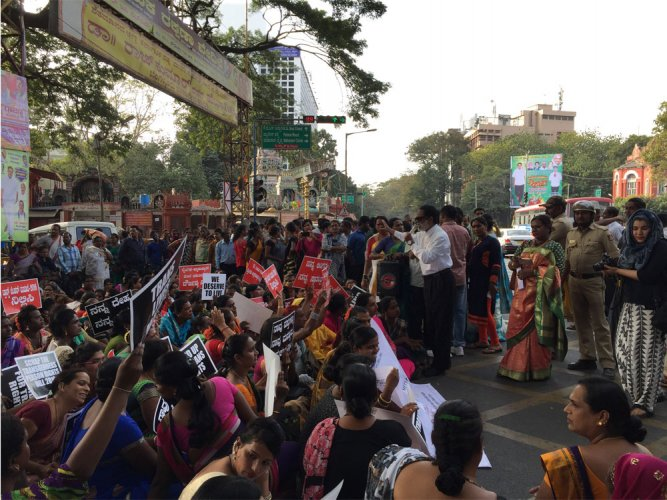 Protest against Transgender Rights Bill in Bengaluru