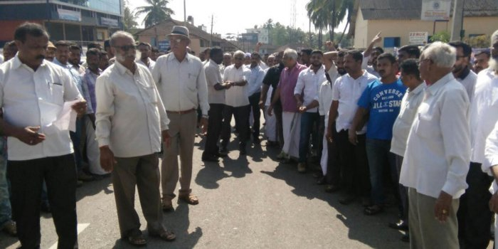 Protest demanding taluk status for Ponnampete