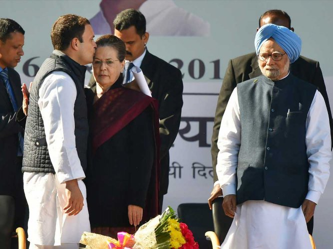 Crackers to welcome Rahul drown Sonia's farewell