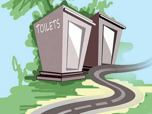 Invisible public toilets