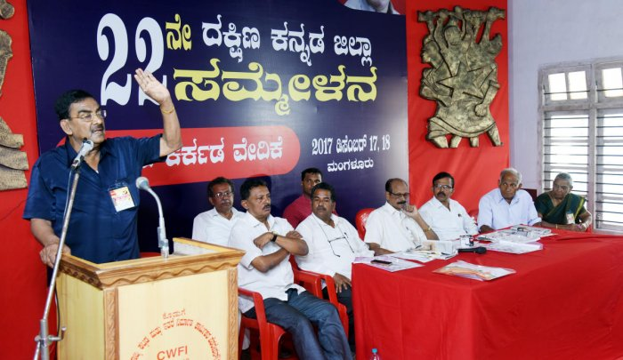 'Govt trying to break unity among labour class'