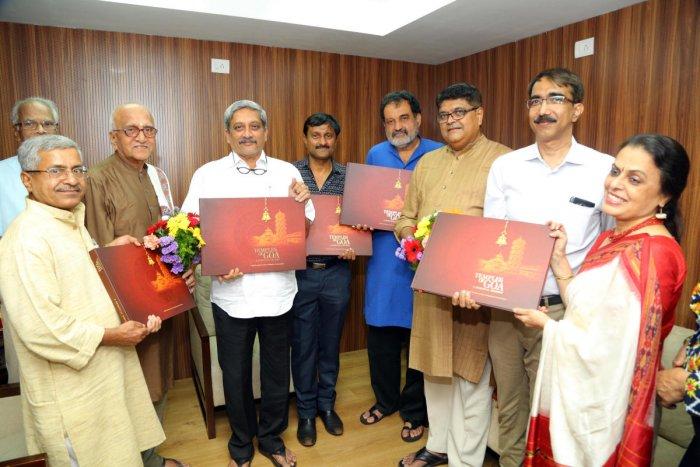 Parrikar releases 'Temples of Goa' book