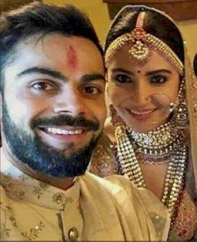 BJP MLA questions Kohli's patriotism for marrying in Italy