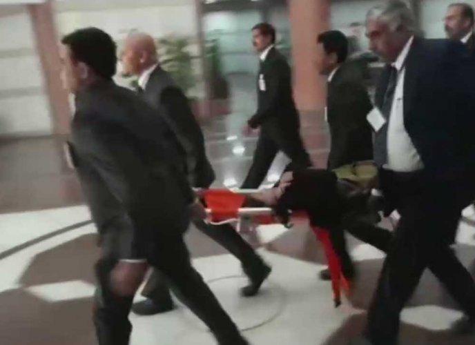 Union Min Krishna Raj falls ill during BJP Parl party meeting
