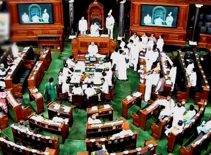 LS adjourned till 2 PM; Cong MPs protest PM's remarks