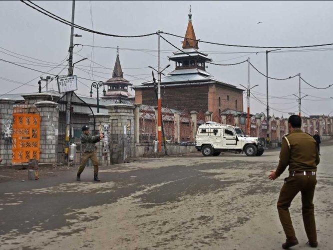Strike, restrictions affect normal life in Kashmir