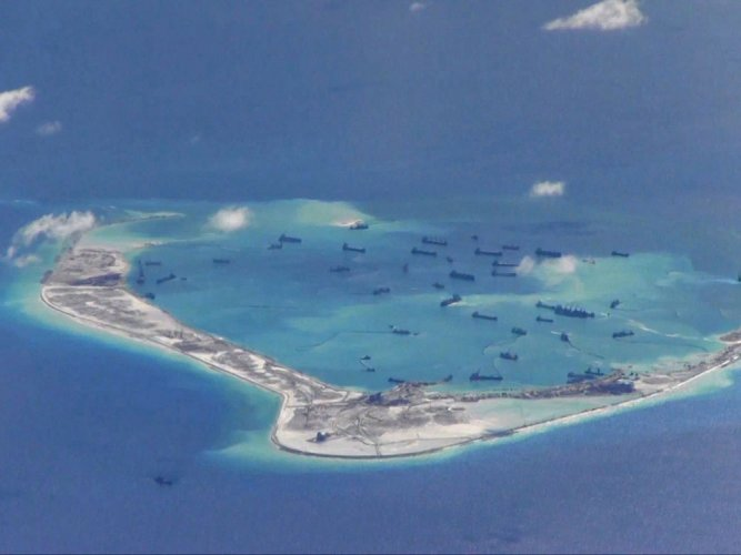 China island expansion moves ahead in the South China Sea