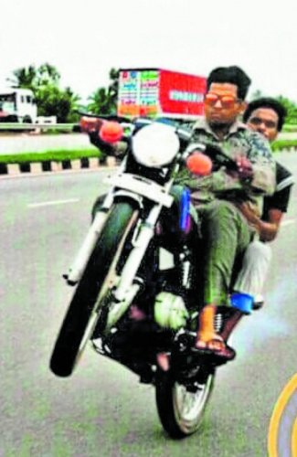 Youth arrested for wheelie stunt