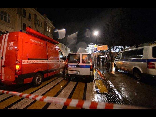 Blast rips through supermarket in Russia's St Petersburg