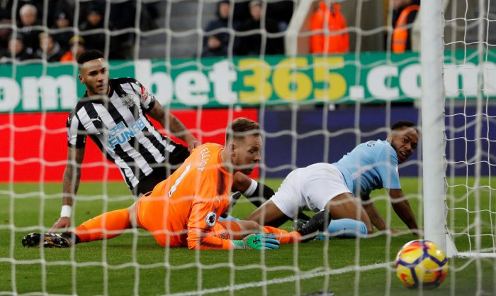 Sterling sparkles in City's 18th successive win