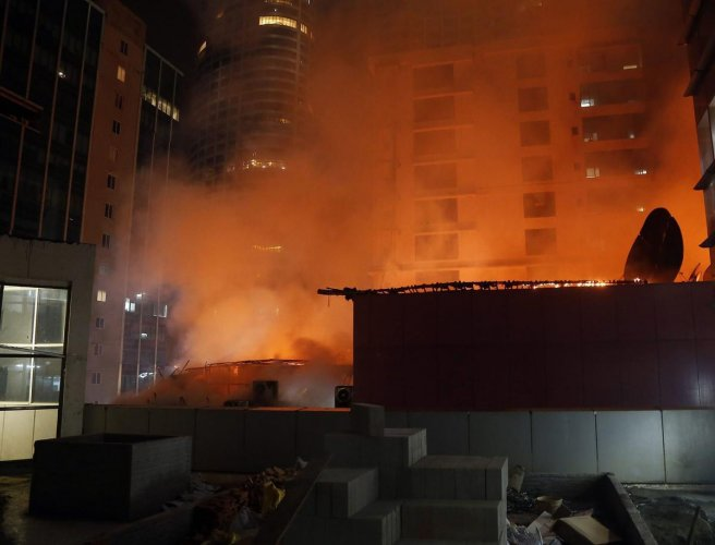 Mumbai fire: Narrow escape for news channel employees