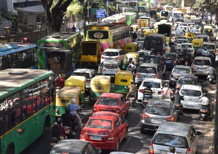 Massive procession chokes roads near Majestic