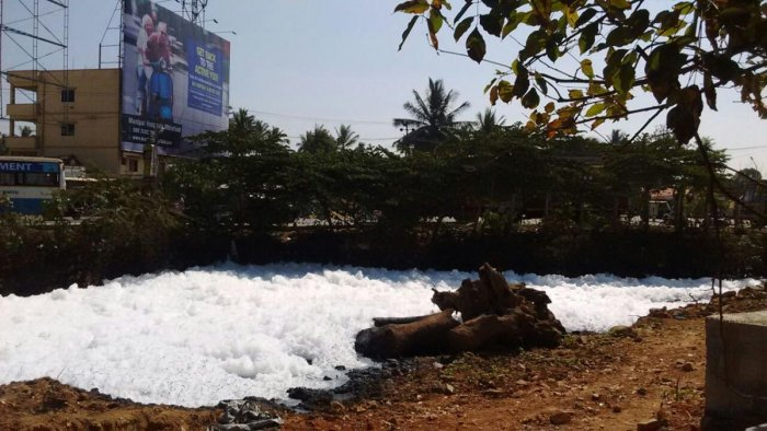 Varthur Lake froths again, residents worried