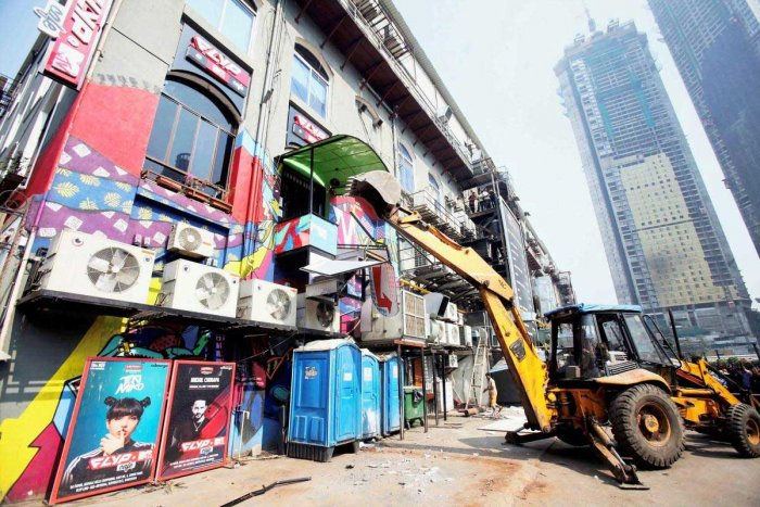 After pub fire, action against illegal structures continues in Mumbai