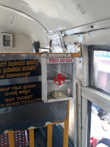 BMTC first aid box won't help you in case of accident