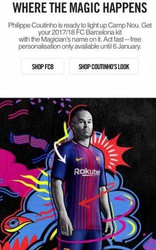 Coutinho in a Barca shirt!