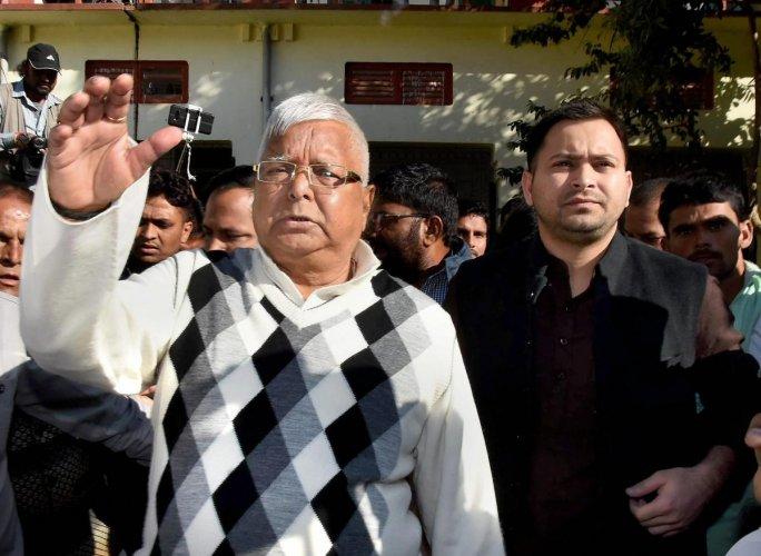 Ahead of jail sentence, Lalu meets RJD leaders in prison