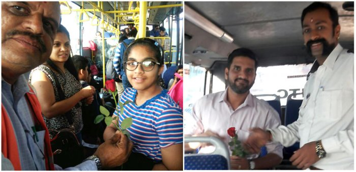 Warm gestures by city police, BMTC, kick start the new year