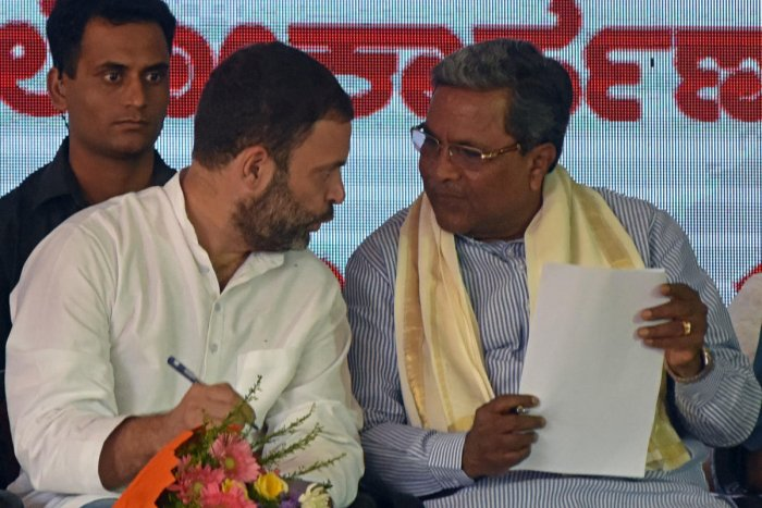 Rahul's New Year message to CM: Congress must win Karnataka