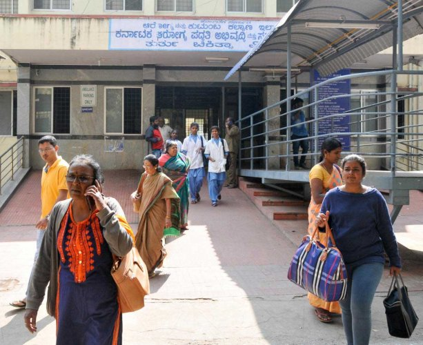 Outpatient services partially hit in city
