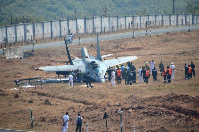 MiG-29K fighter jet destroyed after catching fire; pilot comes out safe
