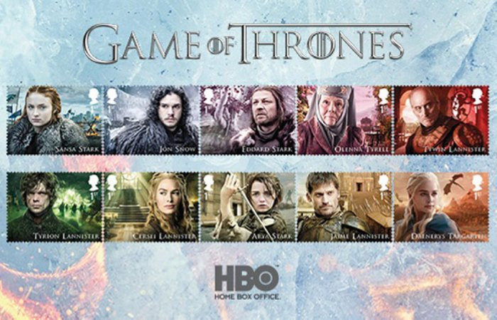 'Game of Thrones' characters to get postage stamps