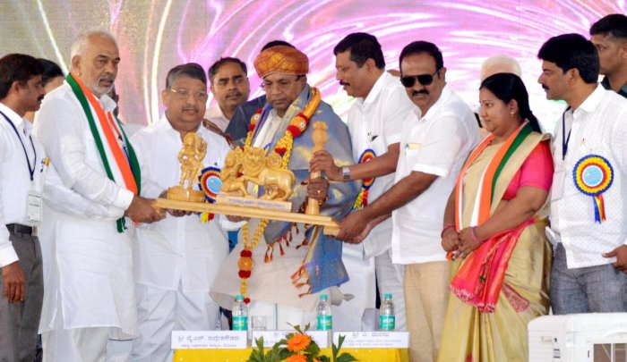 CM launches development works in Hassan dist