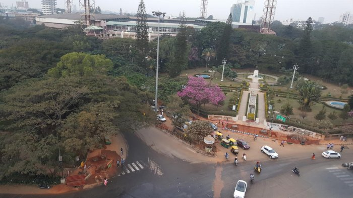 Skywalk work launched in secrecy