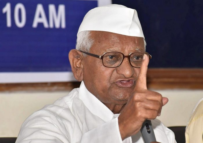 Hegde needs to be treated in mental hospital for Constitution barbs: Anna Hazare