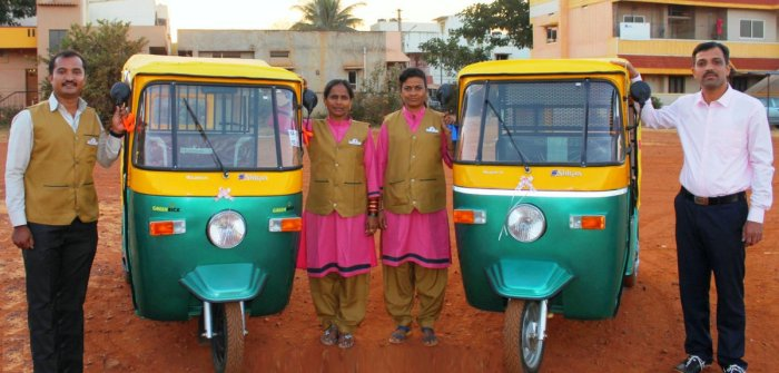 Women drive eco-friendly autos with meter-based fare