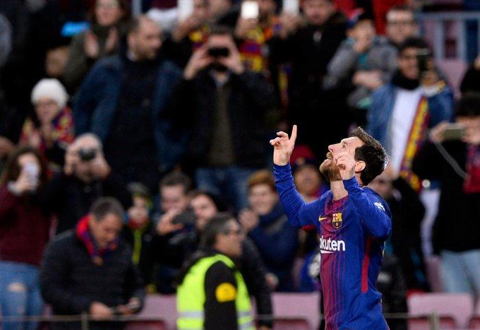 Messi record headlines Barca's win